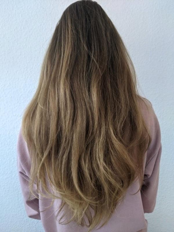 Haare vor dem Waschen
