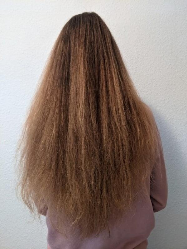 Nach dem Haarewaschen