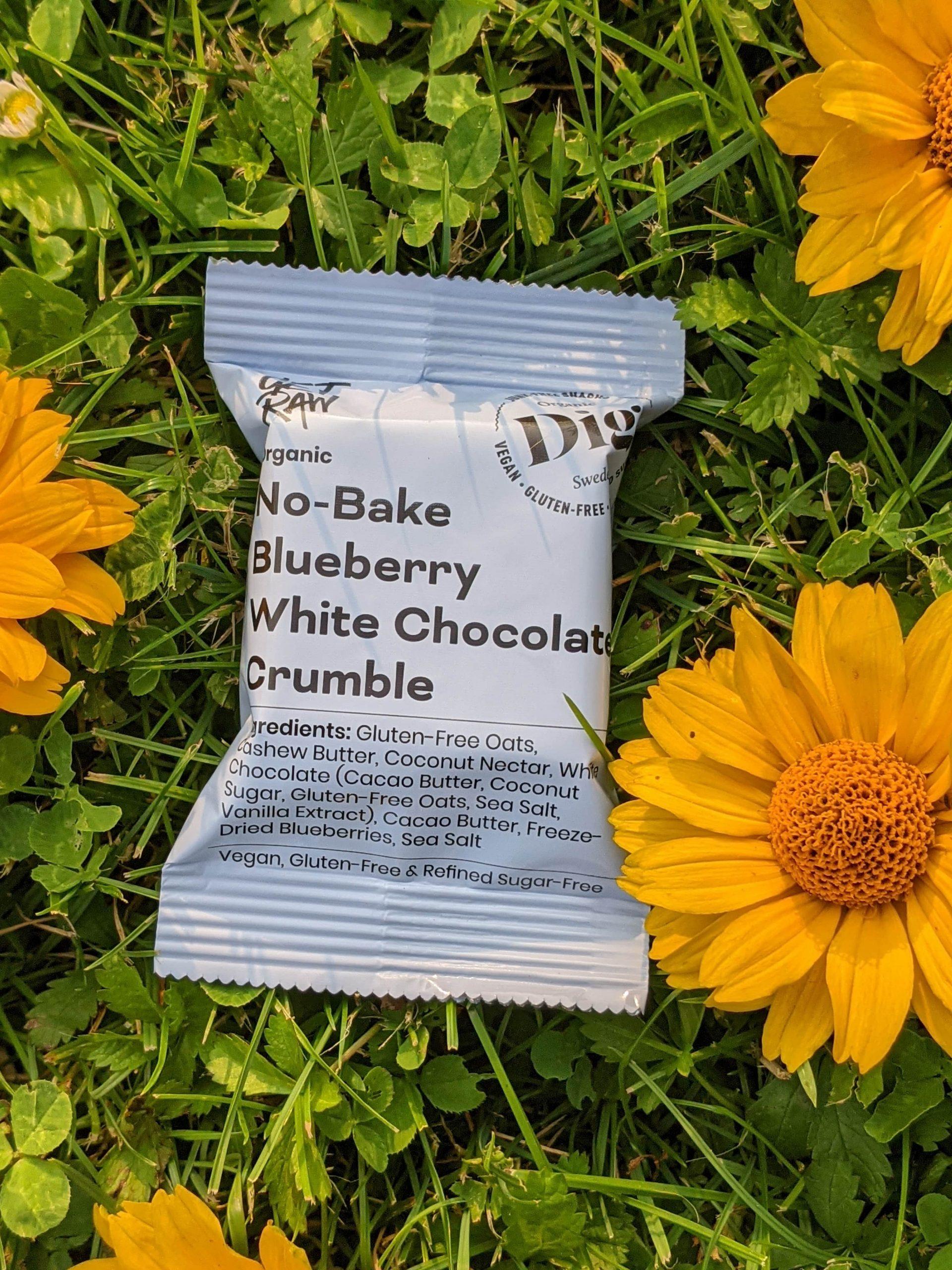 GET RAW Bio Snack No-Bake Crumble, Blaubeere & weiße Schokolade