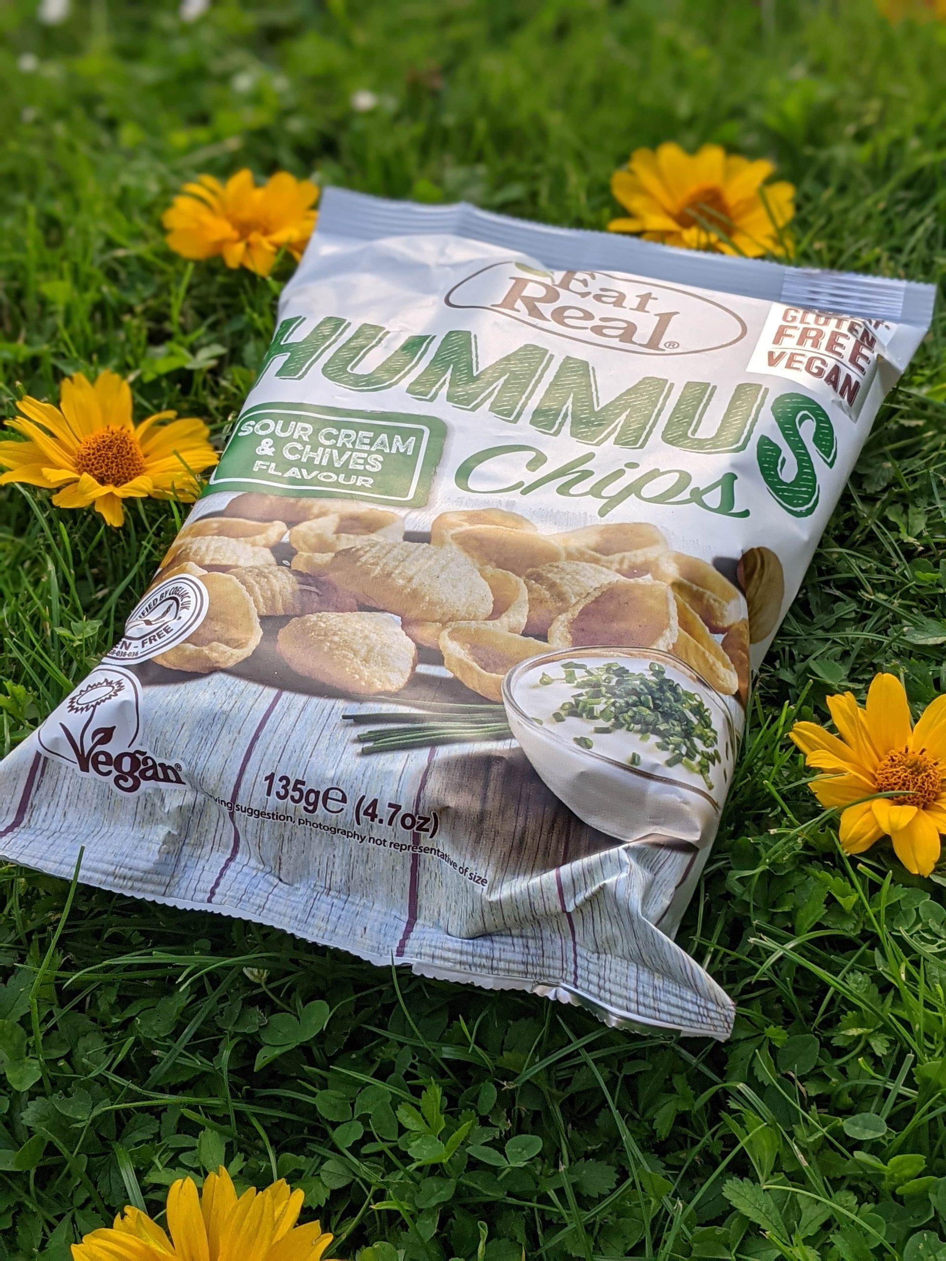 EAT REAL Hummus Chips Sour Cream Schnittlauch