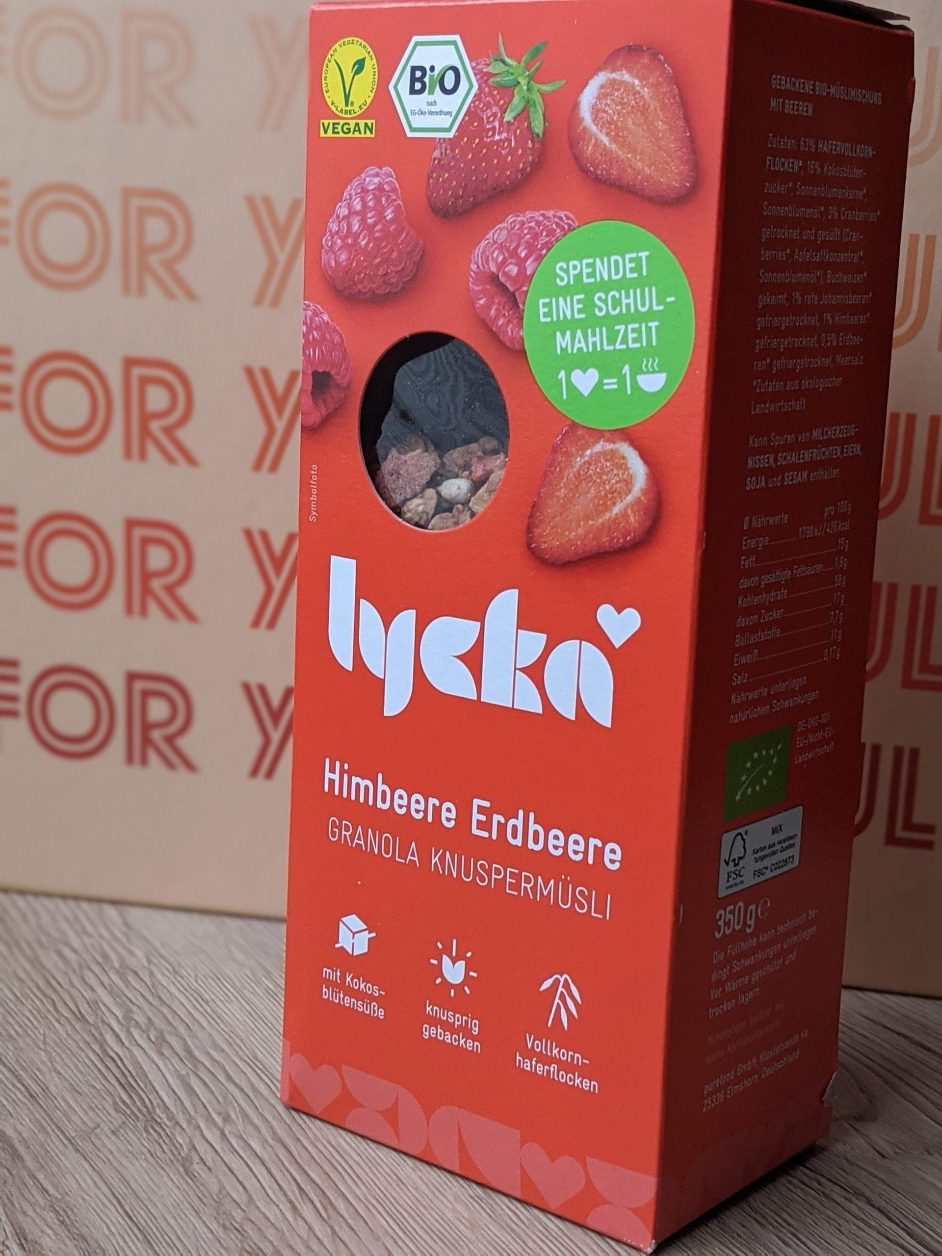 LYCKA BIO Granola Himbeere Erdbeere